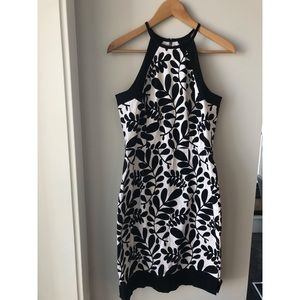 Dress Barn Black & White Cotton Summer Dress